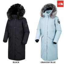 THE NORTH FACE Wool Street Style Plain Long Oversized Bold Down Jackets