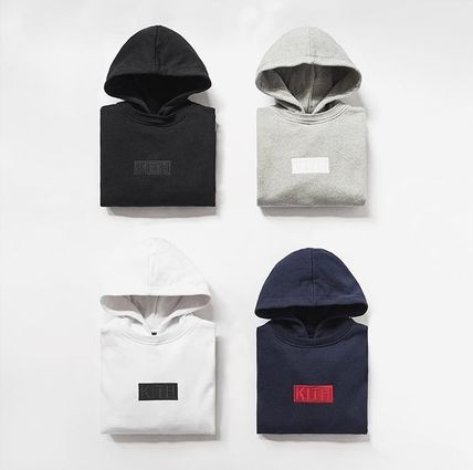 KITH NYC Hoodies Pullovers Street Style Long Sleeves Plain Cotton Hoodies
