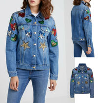 ESCADA Heart Star Casual Style Denim Medium Jackets