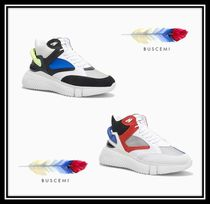BUSCEMI Blended Fabrics Street Style Plain Leather Sneakers
