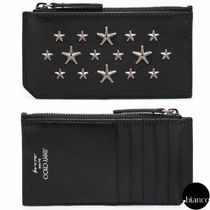Jimmy Choo Star Unisex Street Style Leather Card Holders