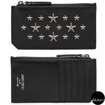 Star Unisex Street Style Leather Card Holders