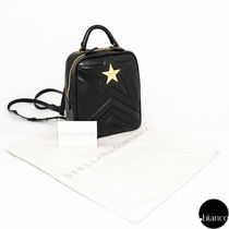 Stella McCartney Star Faux Fur 2WAY Elegant Style Backpacks
