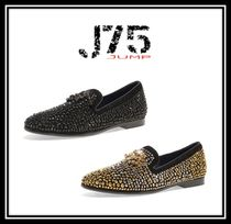 J75 by JUMP Suede Studded Plain With Jewels Loafers & Slip-ons
