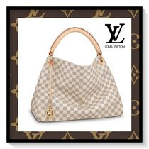 Louis Vuitton ARTSY Other Check Patterns Canvas Blended Fabrics Elegant Style