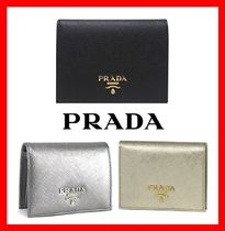 PRADA Street Style Folding Wallets