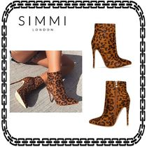 SIMMI Leopard Patterns Casual Style Street Style Pin Heels