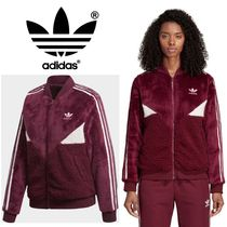 adidas Casual Style Fur Blended Fabrics Street Style Bi-color