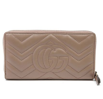 GUCCI GG Marmont Chain Wallet Logo Long Wallets