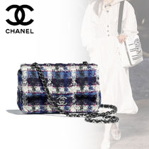 CHANEL Other Check Patterns Elegant Style Handbags