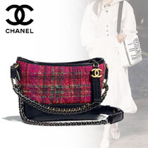 CHANEL Other Check Patterns Elegant Style Shoulder Bags
