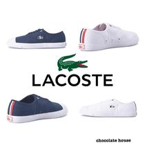 LACOSTE Unisex Plain Other Animal Patterns Sneakers