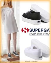 SUPERGA Casual Style Plain Low-Top Sneakers