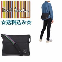 Paul Smith Stripes Plain Leather Messenger & Shoulder Bags