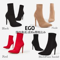 EGO Plain Pin Heels High Heel Boots
