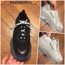 BALENCIAGA Triple S Blended Fabrics Street Style Plain Oversized Sneakers