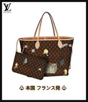 Louis Vuitton NEVERFULL Monogram Collaboration A4 Leather Totes