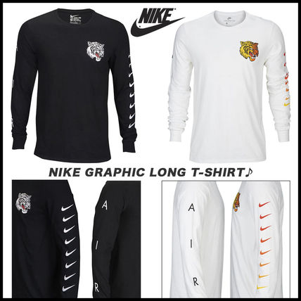 Nike Long Sleeve Street Style Long Sleeves Other Animal Patterns Cotton