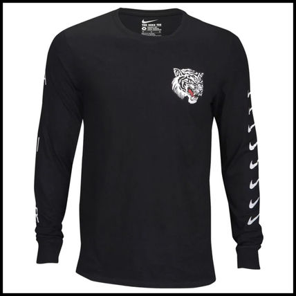 Nike Long Sleeve Street Style Long Sleeves Other Animal Patterns Cotton 2