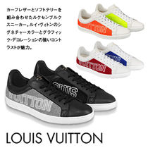 Louis Vuitton Blended Fabrics Street Style Leather Sneakers