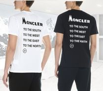 MONCLER Street Style Plain Cotton Short Sleeves T-Shirts