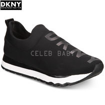 DKNY Round Toe Rubber Sole Casual Style Plain Low-Top Sneakers