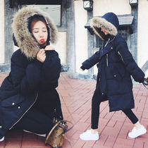 Fur Plain Long Parkas