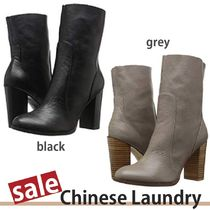 CHINESE LAUNDRY Plain Block Heels High Heel Boots