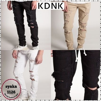 Street Style Cotton Skinny Fit Pants