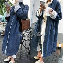 Casual Style Denim Long Jackets