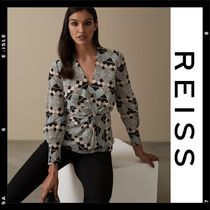 REISS Casual Style V-Neck Long Sleeves Medium Shirts & Blouses