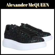 alexander mcqueen Round Toe Rubber Sole Casual Style Plain Leather Oversized