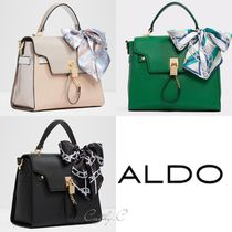 9edf4955dc3 ALDO Blended Fabrics 2WAY Plain Elegant Style Handbags