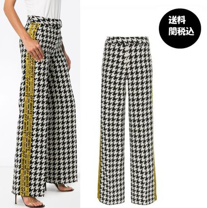 Zigzag Casual Style Wool Street Style Long Pants