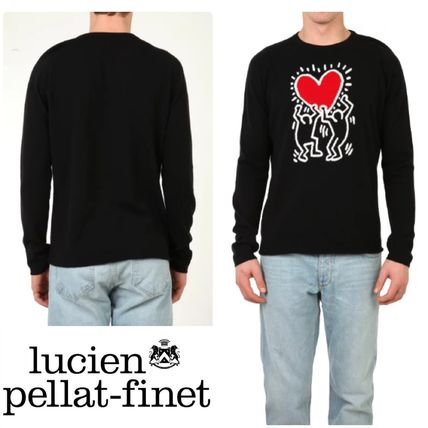 Pullovers Heart Cashmere Long Sleeves Knits & Sweaters