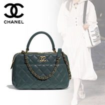 CHANEL Lambskin 2WAY Plain Elegant Style Bags