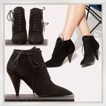 Saint Laurent Casual Style Suede Plain Ankle & Booties Boots
