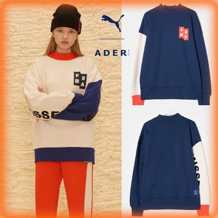 ADERERROR Sweatshirts Unisex Street Style Long Sleeves Cotton Sweatshirts