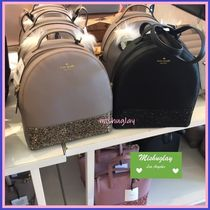 kate spade new york Plain Leather Backpacks