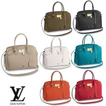 Louis Vuitton Plain Leather Office Style Totes