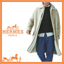 HERMES Fur Plain Long Coats