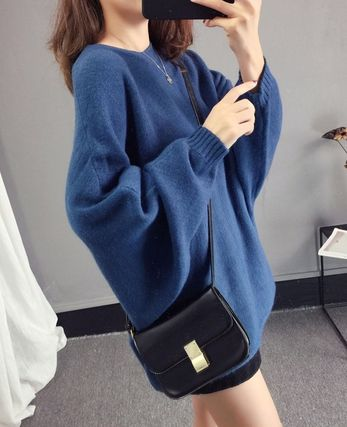 More Knitwear Cable Knit Casual Style U-Neck Long Sleeves Plain Medium 9