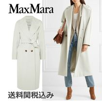 MaxMara Wool Plain Long Elegant Style Coats