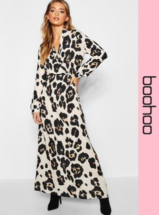 Leopard Patterns Casual Style Maxi Long Dresses