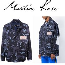 MARTINE ROSE Camouflage Collaboration Long Sleeves Shirts