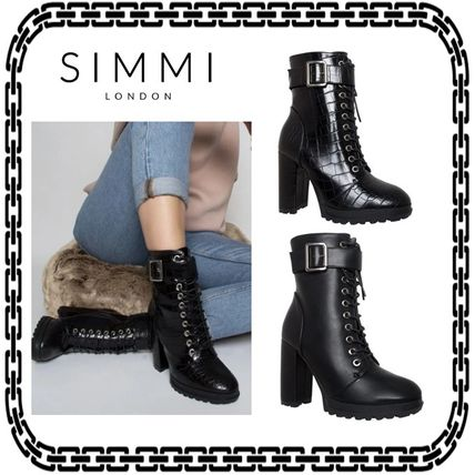 Casual Style Street Style Other Animal Patterns Block Heels