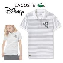 LACOSTE Casual Style Collaboration Short Sleeves Polo Shirts
