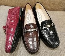 TOD'S Plain Toe Plain Leather Office Style Bold
