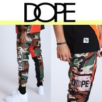 DOPE couture Printed Pants Camouflage Street Style Bottoms