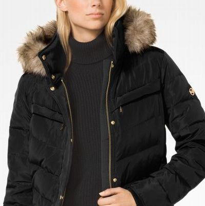 Michael Kors Down Jackets Faux Fur Plain Long Down Jackets 6